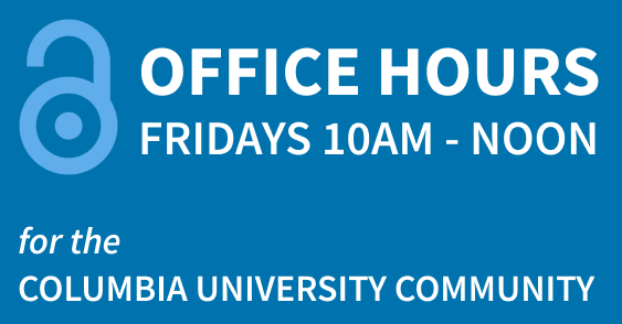 Office Hours Fridays 10-12 for the Columbia Community